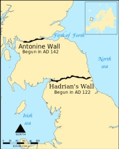 Location of Antonine Wall