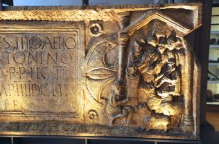 Right half of distance slab from the 2nd Augustan Legion