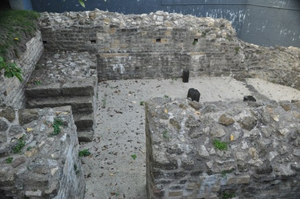 Foundation of a tower on the Roman wall