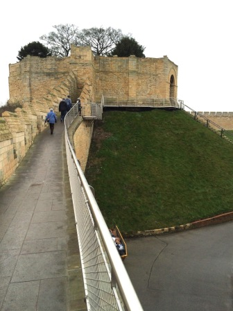 The Medieval wall walk to the Lucy Tower (keep)