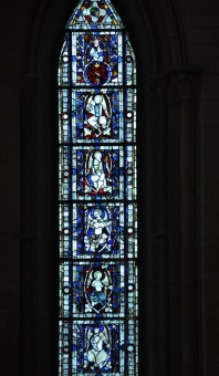 Lower left window of the north transept