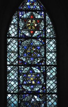Lower right window of the north transept