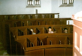 Cubicles for the prisoners in the chapel (image from the internet)