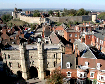 Lincoln Castle in the background