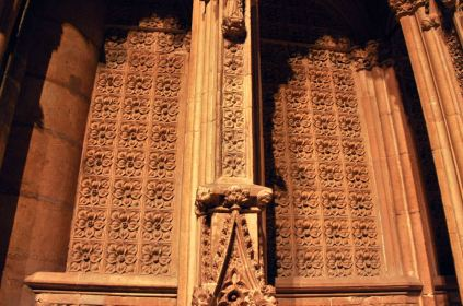 Repeating design on the transept crossing
