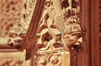 Playful carvings on the transept crossing