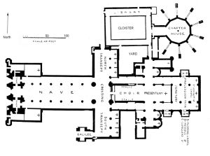 Lincoln Cathedral plan