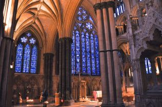 The east end of Lincoln Cathedral from the north aisle