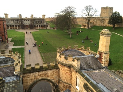 The Lincoln Castle courtyard