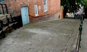 The steepest part of Steep Hill