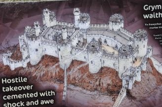 Representation of Conwy Castle, 1280's