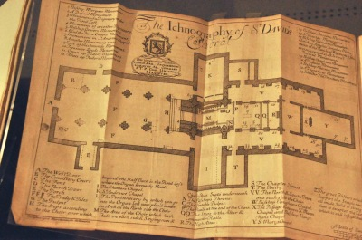 Original survey of St. David's cathedral church in 1715