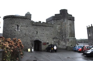 Gate to the (previously) walled St. David's Cathedral complex
