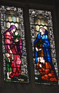 Stained glass in St Edward's church