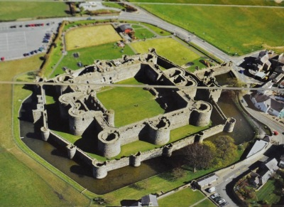 Beaumaris Castle (photo of a picture)