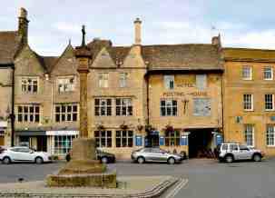 Town center (from the internet); King's Arms was premier stopover in 1600's
