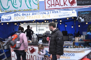 Street food at the harbor fair