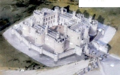 Artist concept of the completed Beaumaris Castle