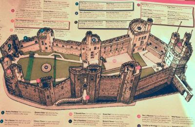 A schematic of today's Caernarfon Castle