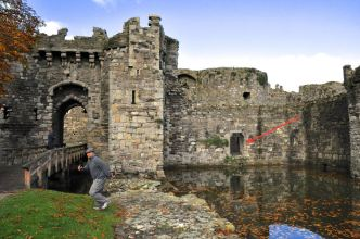 View of the Beaumaris Castle south gate