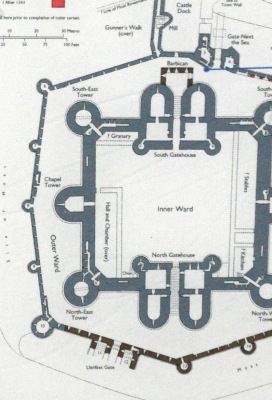 Schematic of the Beaumaris Castle