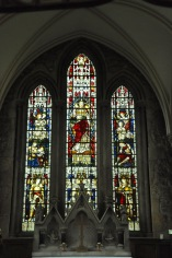 Stained glass, St Michael and All Angels
