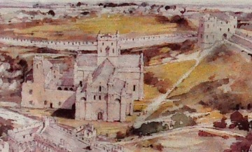 Magnification from the illustration of St. David's complex in the 1500's