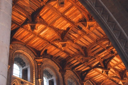 Irish oak ceiling of St. David's Cathedral, from the 1500's