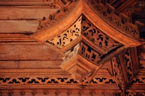 Detail of the oak ceiling