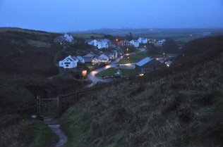 Porthgain and the gate to the Coastal Walk