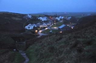 Porthgain and the gate to the Coastal Walk