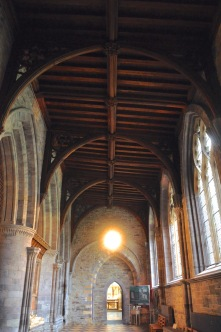 The south aisle of St. David's Cathedral