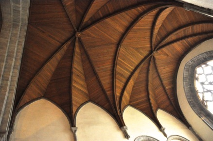 Fascinating ceiling in St. Andrew's Chapel