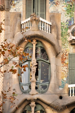 Upper-level window of the Casa Batllo