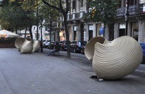 Art (pasta shapes) on the Passeig de Gracia