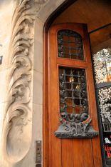 The exterior door