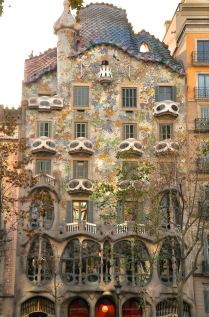 Gaudi's 1904 Casa Batllo on the Passeig de Gracia