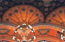 Column detail at the ceiling