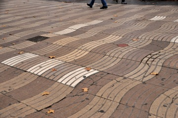 The undulating La Rambla sidewalk