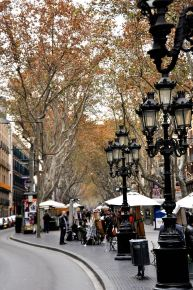 La Rambla, near the lower end