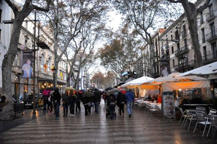 La Rambla, near the Liceu Opera House