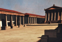 Artist conception of the forum in Barcelona