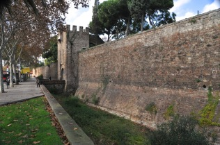 Barcelona's original medieval wall, from 1378