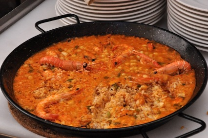 Paella at the table