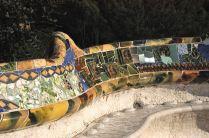Gaudí's terrace bench