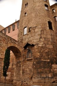 Closer view of the Roman tower