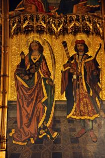 Detail of Alterpiece of St. Sebastian and St. Tecla