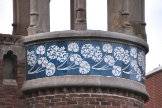 Tiles of flowers