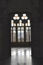 The window with view of Gaudi's Sagrada Familia