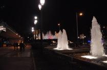 Looking at the Magic Fountain, and behind it, the Palau Nacional
